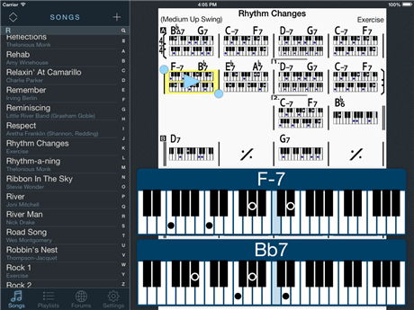 iReal Pro for iPad: the chord book of your dreams | AudioNewsRoom - ANR