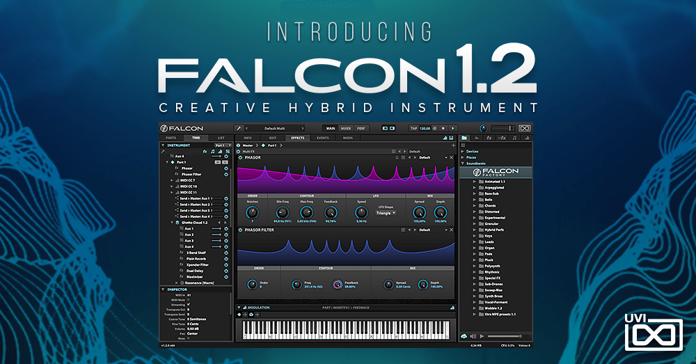 uvi updates falcon to version 1 2 new and improved modules 100 new presets and more. Black Bedroom Furniture Sets. Home Design Ideas