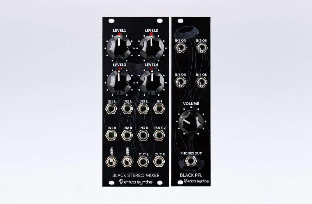 Black Stereo Mixer V2 + PFL