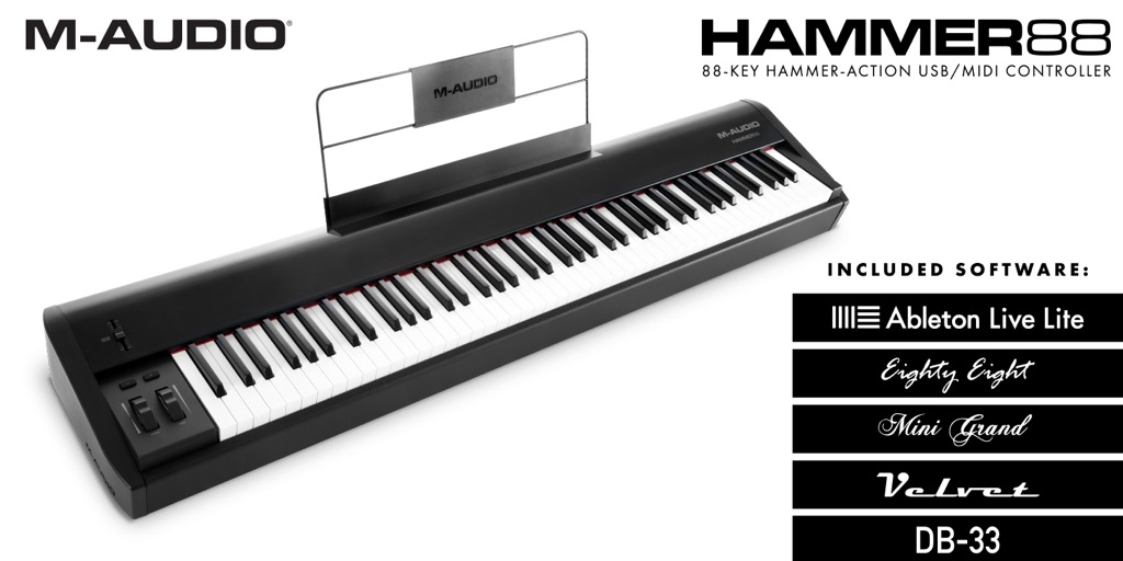 M-AUDIO Hammer 88: New Piano-Style Controller With Nice