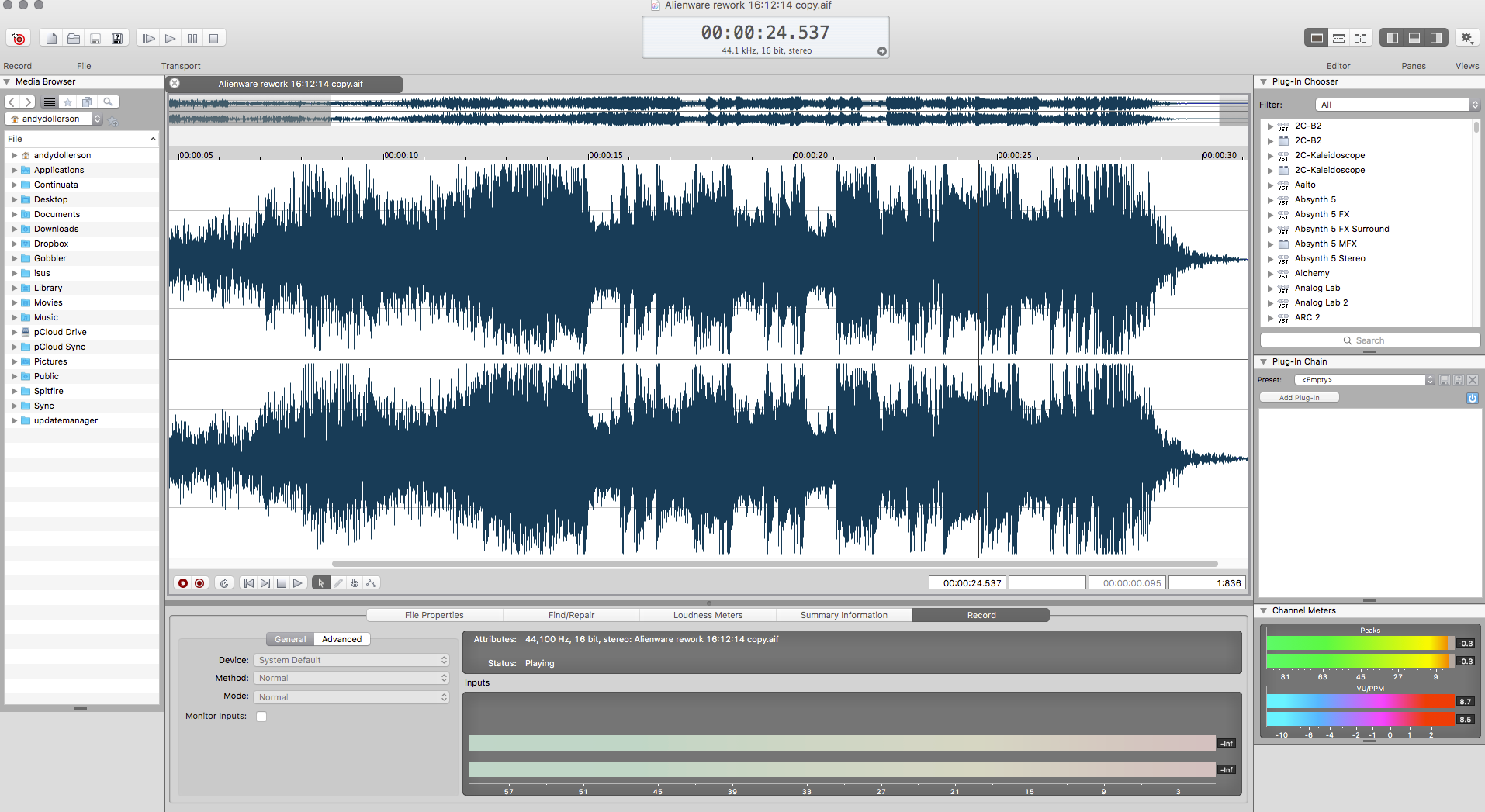 SOUND FORGE Pro Mac 3 Review | AudioNewsRoom - ANR