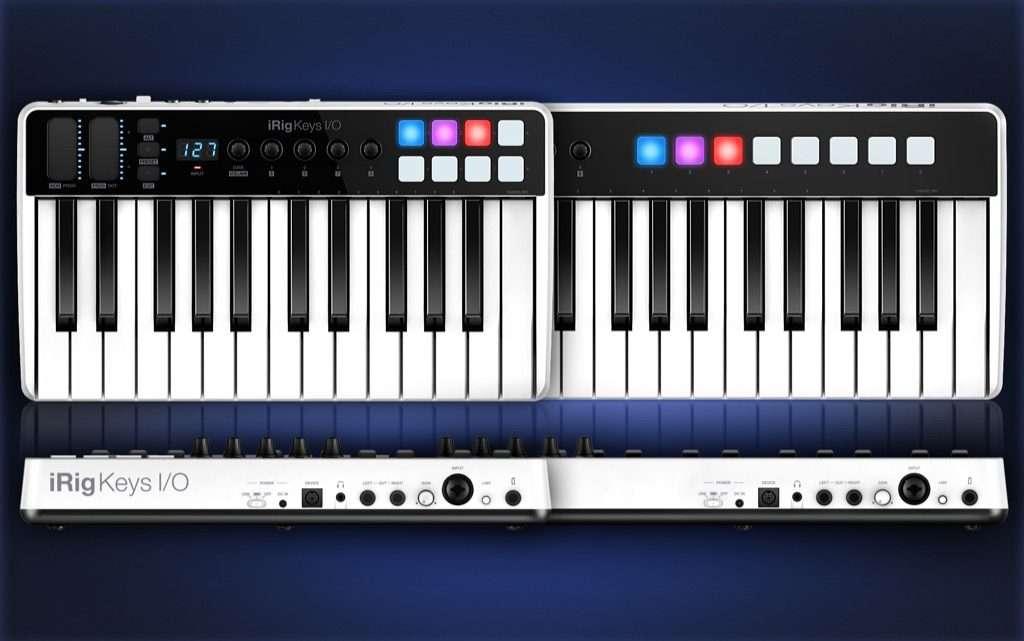 ik multimedia irig keys i o full size keyboard controller with built in audio interface. Black Bedroom Furniture Sets. Home Design Ideas