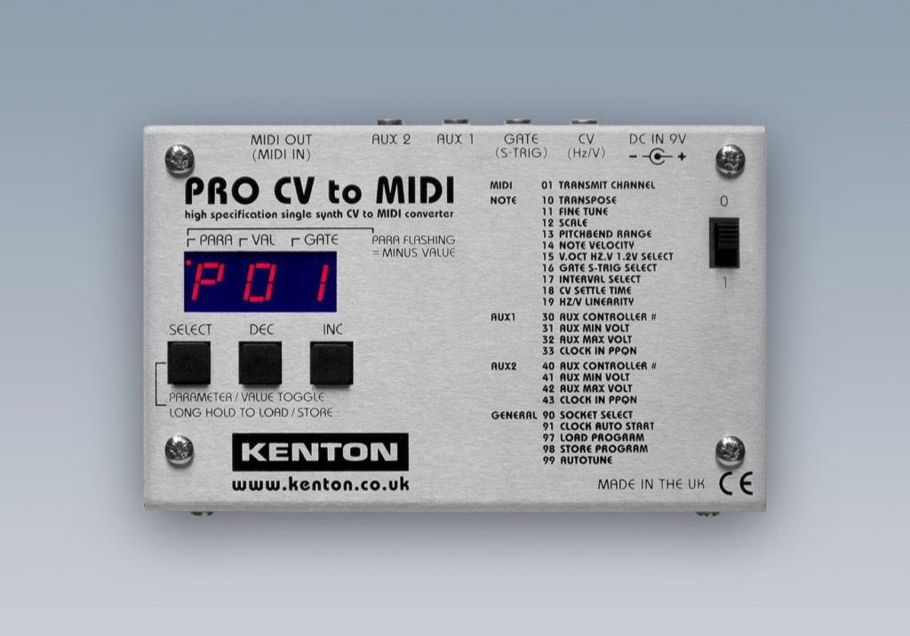 kenton pro cv to midi convertor