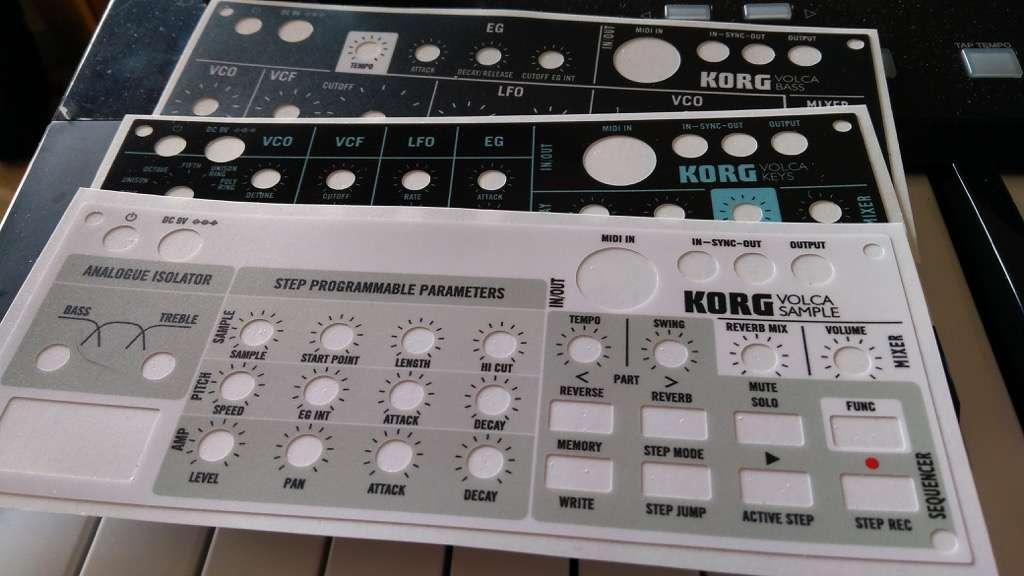 KORG Volca Skins For Keys, Bass and Sample