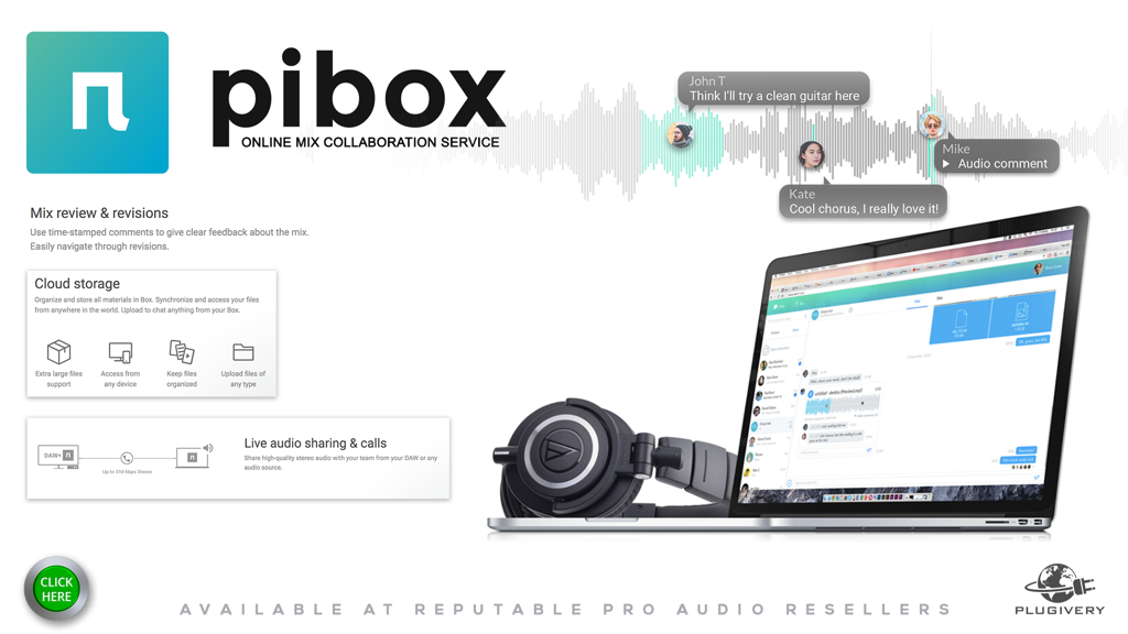 Pibox, The Online Music Collaboration Service Now Is Now Distributed