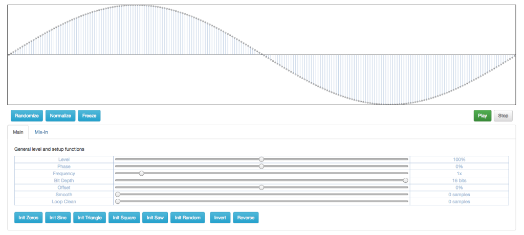 SCW Editor – Create Single Cycle Waveforms In Your Browser
