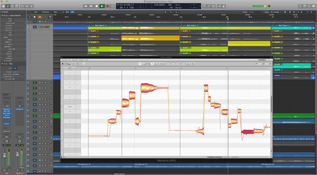 Melodyne update 4.2. Logic