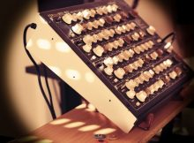 SPIKE XL stand with Vermona Perfourmer MKII synth
