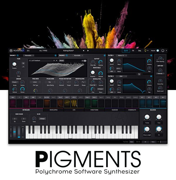 Arturia Combines Virtual Analog and Wavetables With Pigments – Free