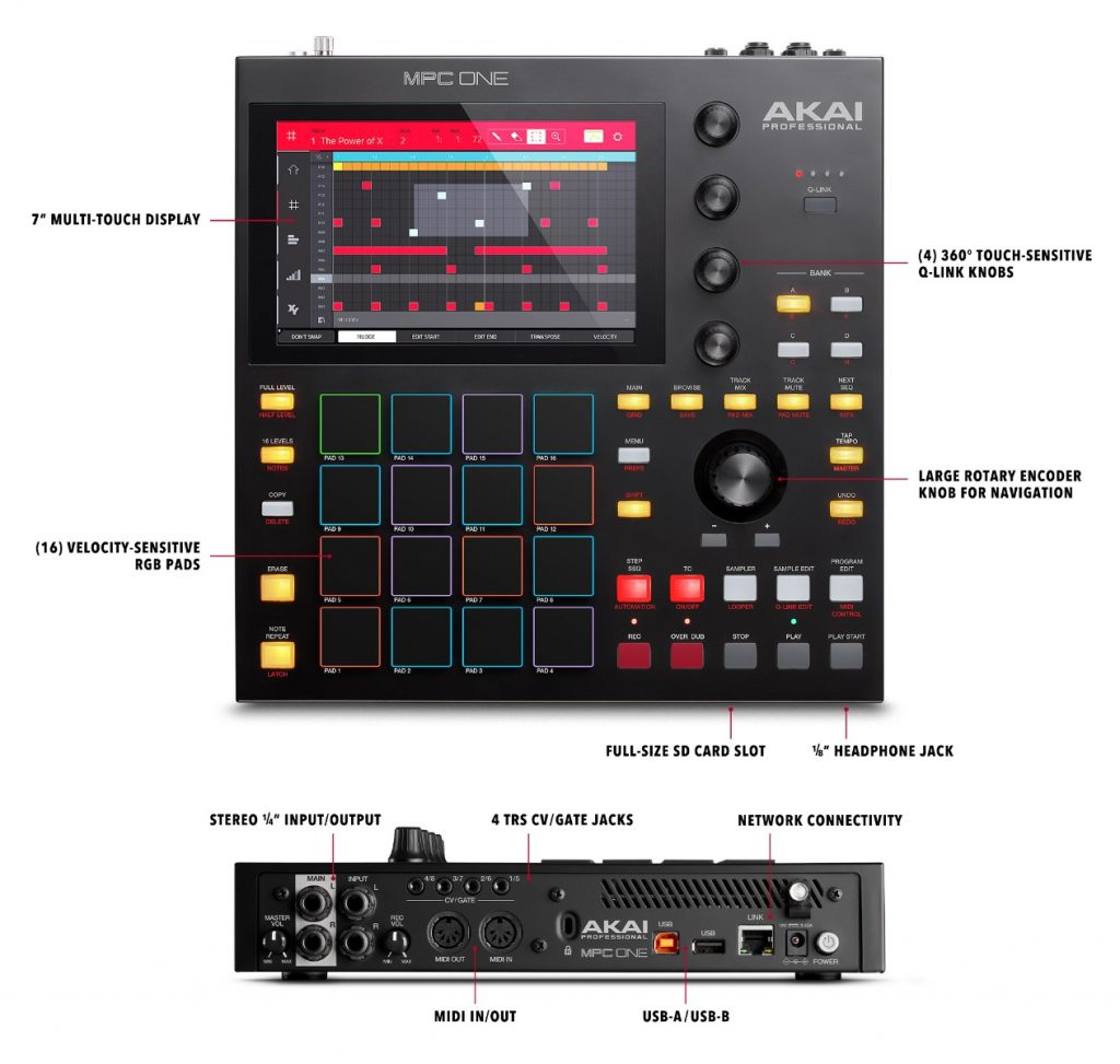 An overview of the AKAI MPC One